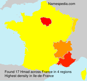 Surname Hmad in France