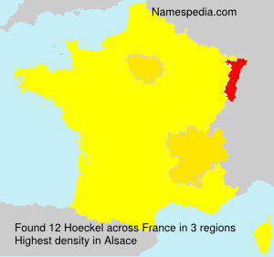 Surname Hoeckel in France