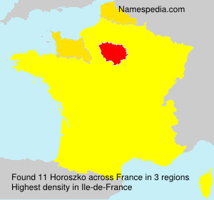 Surname Horoszko in France