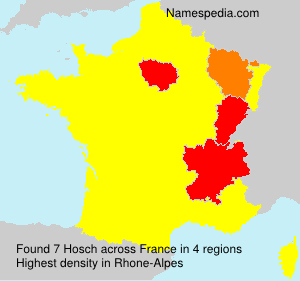 Surname Hosch in France