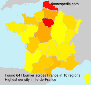 Surname Houillier in France