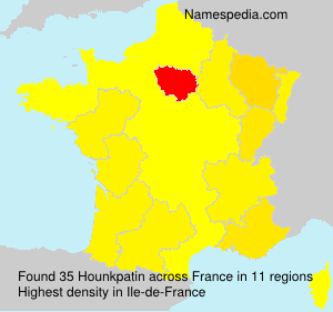Surname Hounkpatin in France