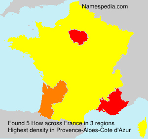 Surname How in France