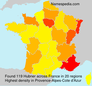 Surname Hubner in France