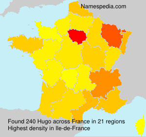 Surname Hugo in France