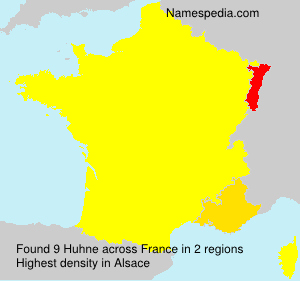 Surname Huhne in France