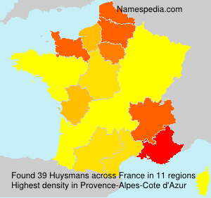 Surname Huysmans in France