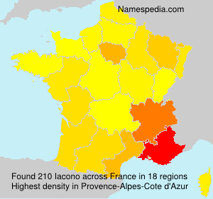 Surname Iacono in France