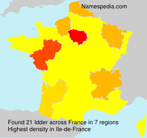 Surname Idder in France