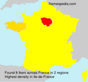 Surname Ikeni in France