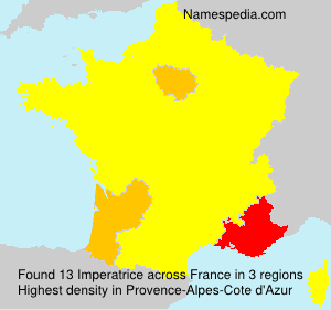 Surname Imperatrice in France