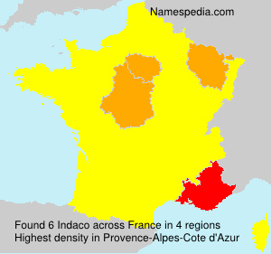 Surname Indaco in France
