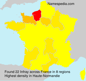 Surname Infray in France