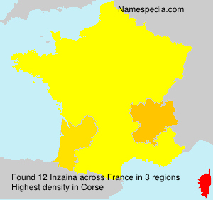 Surname Inzaina in France