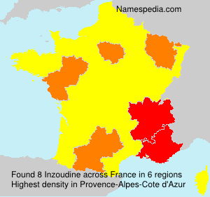 Surname Inzoudine in France