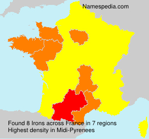 Surname Irons in France