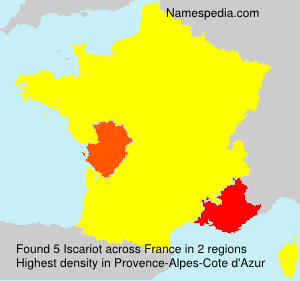 Surname Iscariot in France