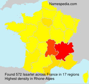 Surname Issartel in France