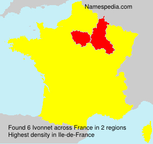 Surname Ivonnet in France