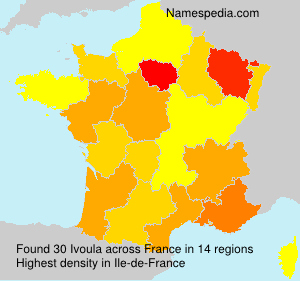 Surname Ivoula in France