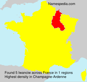 Surname Iwanciw in France