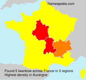 Surname Iwankow in France