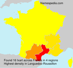 Surname Ixart in France