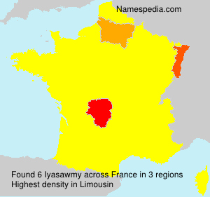 Surname Iyasawmy in France