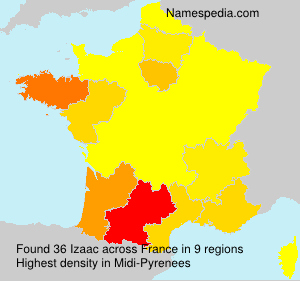 Surname Izaac in France