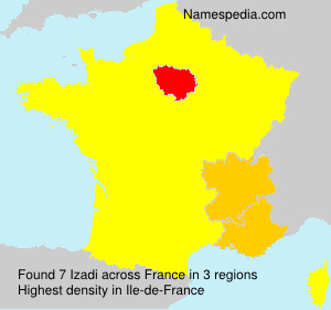 Surname Izadi in France