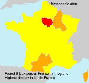 Surname Izak in France