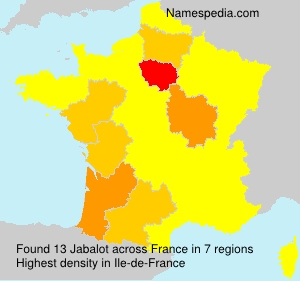 Surname Jabalot in France
