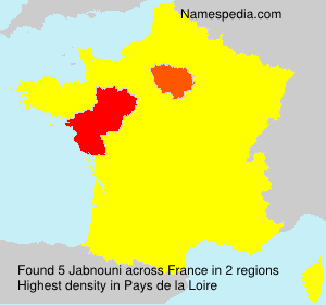 Surname Jabnouni in France