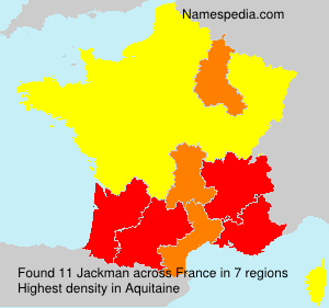 Surname Jackman in France