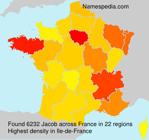 Surname Jacob in France