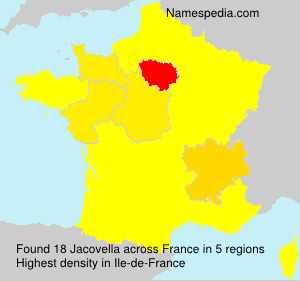 Surname Jacovella in France