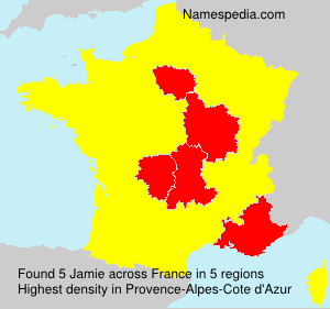 Surname Jamie in France