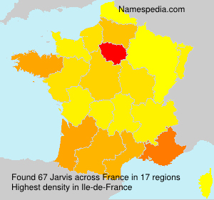 Surname Jarvis in France