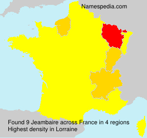 Surname Jeambaire in France