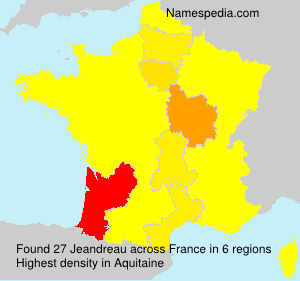 Surname Jeandreau in France