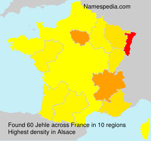 Surname Jehle in France