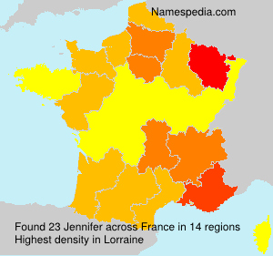 Surname Jennifer in France