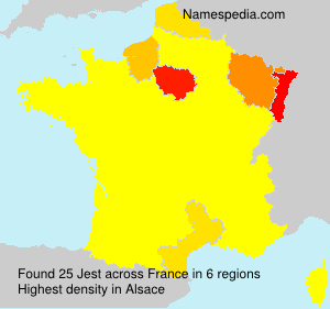 Surname Jest in France