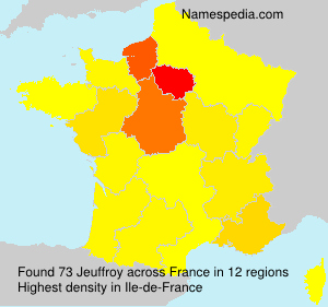 Surname Jeuffroy in France