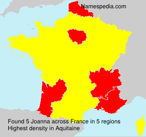 Surname Joanna in France