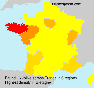 Surname Jolive in France