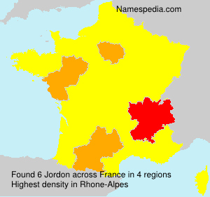 Surname Jordon in France