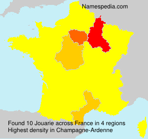 Surname Jouarie in France
