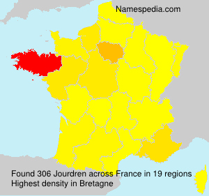 Surname Jourdren in France