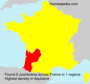 Surname Juantorena in France